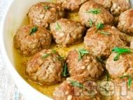 Печени кюфтета със свинска кайма, жито и розмарин